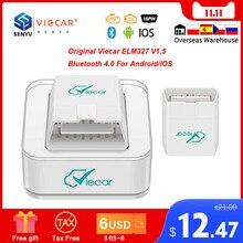 원래 Viecar ELM 327 V1.5 블루투스 4.0 ELM327 OBD2 스캐너 PIC18F25K80 안 드 로이드/IOS OBD OBD2 자동차 진단 자동 도구