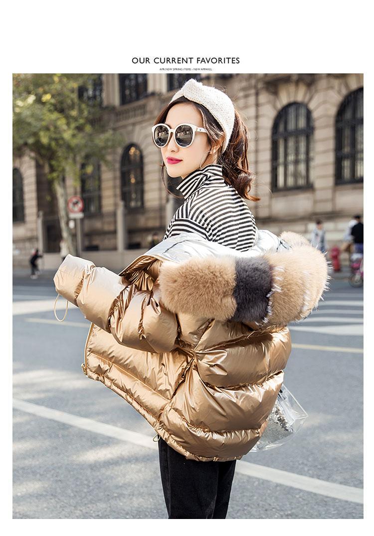 H02e0d2d8ec9944a987ef13b303ea2944w Natural Fox Fur Winter Jacket Women Gold Warm Parka Real Fur Down Coat Female White Duck Down Jacket Winter Waterproof Overcoat