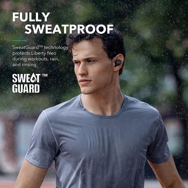 Wireless Waterproof Black Earphones