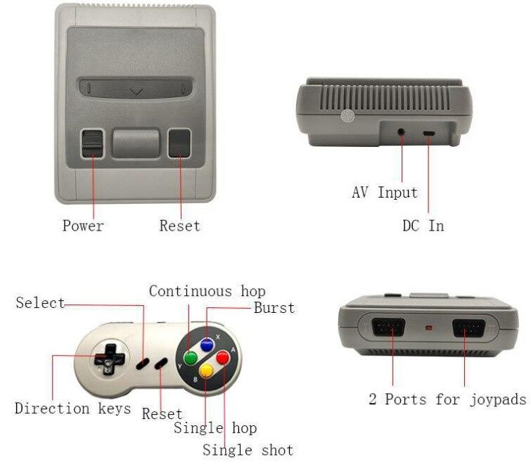 Retro clássico jogo mini tv família tv