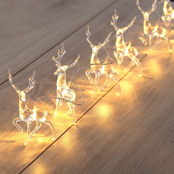 Deer LED String Light 10LED Battery Operated Reindeer Indoor Decoration For Home Garland Xmas Holiday Christmas String Lights