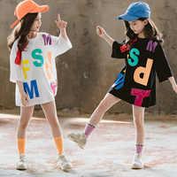 Vestido de verano para niña, camiseta con letras sueltas, hip hop, chica regordeta, sexy, 3, 4, 5, 6, 7, 8, 9, 10, 12 años, 2020
