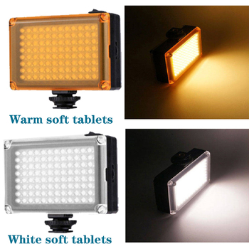 Orsda led video light 96 leds photography lighting Lamp On Camera Photo Studio Lighting Hot Shoe for youtube nikon sony samsung