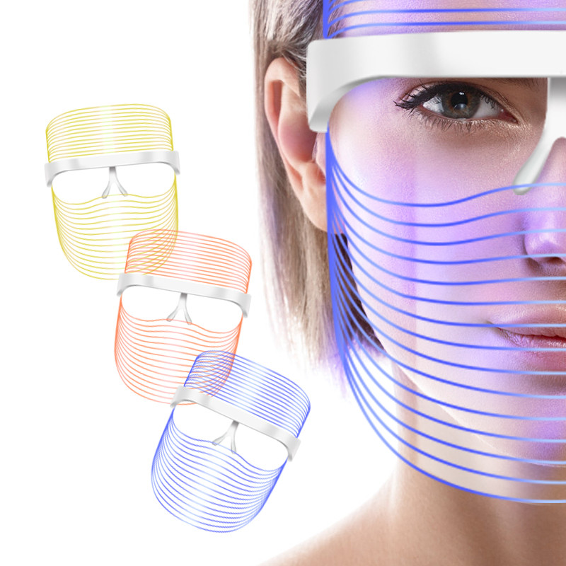 Masque LED Facial Mask Photon LED Mask Belleza Facial Beauty Skin Rejuvenation Therapy Anti Wrinkle Acne Tighten Skin Care Tool