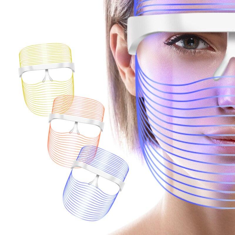 Masque LED visage foreo beauté peau rajeunissement belleza Photon lumière 3 couleurs mascara LED thérapie rides acné serrer outil de peau