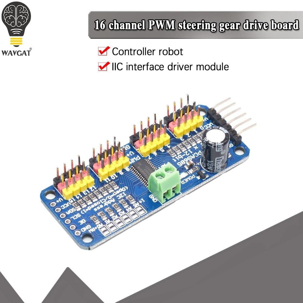 16-канальный 12-битная ШИМ/сервопривод-I2C интерфейс-PCA9685 для Arduino Raspberry Pi DIY Servo Щит Модуль