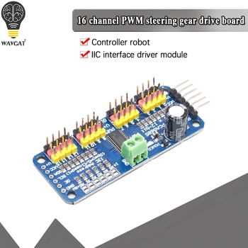 16-Channel 12-bit PWM/Servo Driver - I2C interface PCA9685 for Arduino Raspberry Pi DIY Servo Shield Module - discount item  5% OFF Active Components