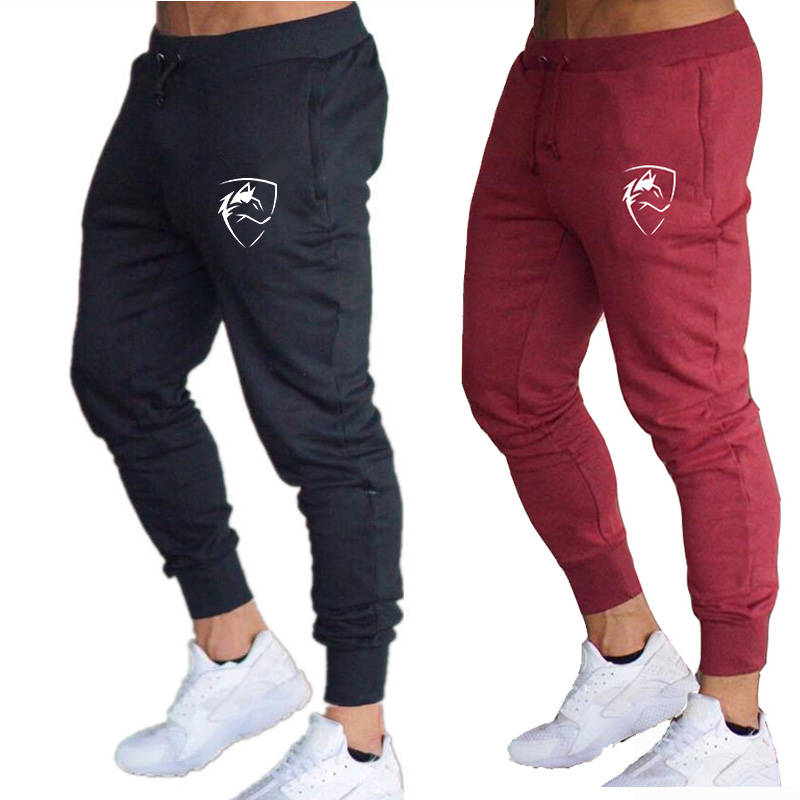 Men's Gym Training Jogging Pants Men Joggers Slim Fit Soccer Sweatpants 2019 Autumn Cotton Workout Running Tights Sport Trousers