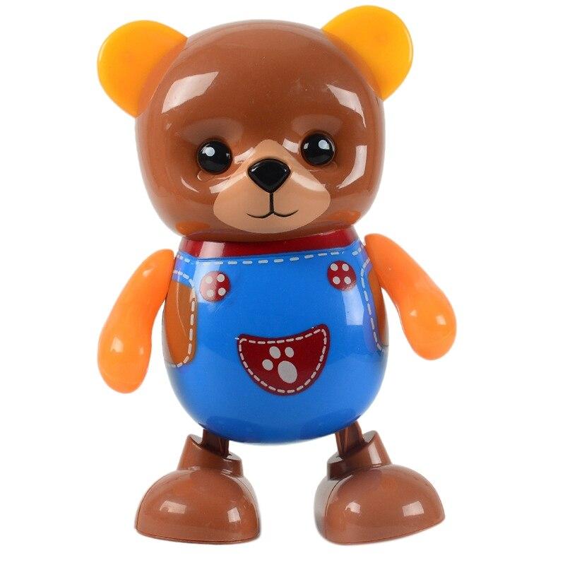 1PCS Music Dancing Little Bear Cartoon Electric Robot Children Educational Children Toys