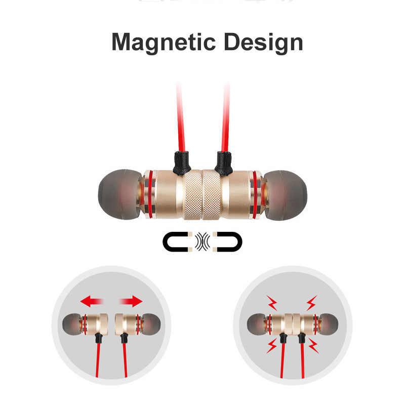 Sport Auricolari Bluetooth Magnetico Stereo Auricolare Impermeabile Auricolare con Microfono per Tutto il Telefono Astuto Xiaomi redmi