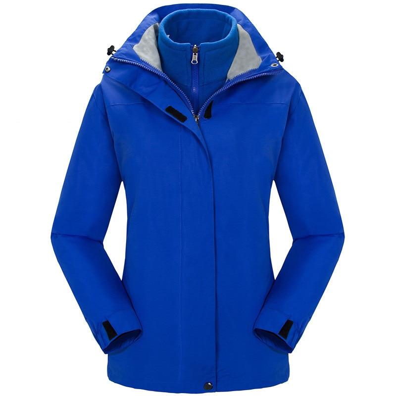 Ski Jacket Women Waterproof Windproof Snowboard Jacket Thick Warm Snow Coat Outdoor Hiking Camping Climbing Winter 2 in 1 Jacket
