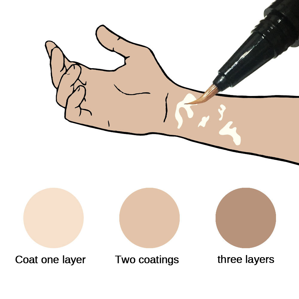 Waterproof Concealer Stick White Spot Concealer Pen Skin Blemish Concealer Cream External Use For Hand Face Melanin Concealing