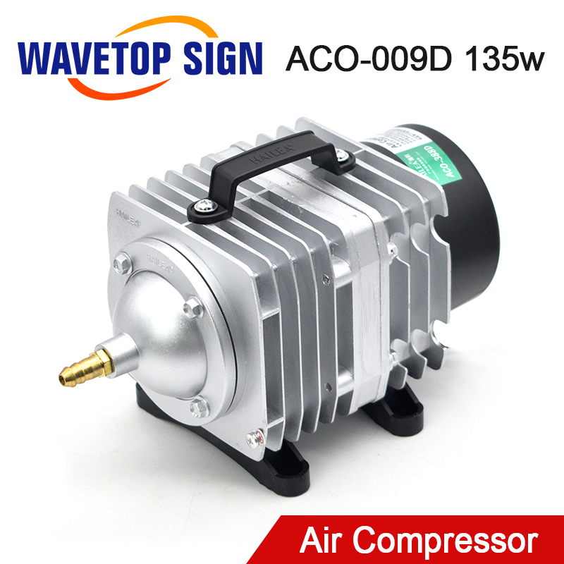 WaveTopSign 135W Air Compressor Electrical Magnetic Air Pump For CO2 Laser Engraving Cutting Machine ACO-009D