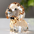 Crystal Lovely Dog Figurine Handmade Miniature Glass Animal Craft Home Decor Ornament Trinket Gift Children Toy|Figurines & Miniatures| |  -