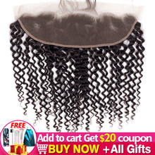 Bulk sale 13x4 Brazilian Kinky Curly Hair Lace Frontal Ear To Ear HD Closure Remy Human Hair Frontal Closure