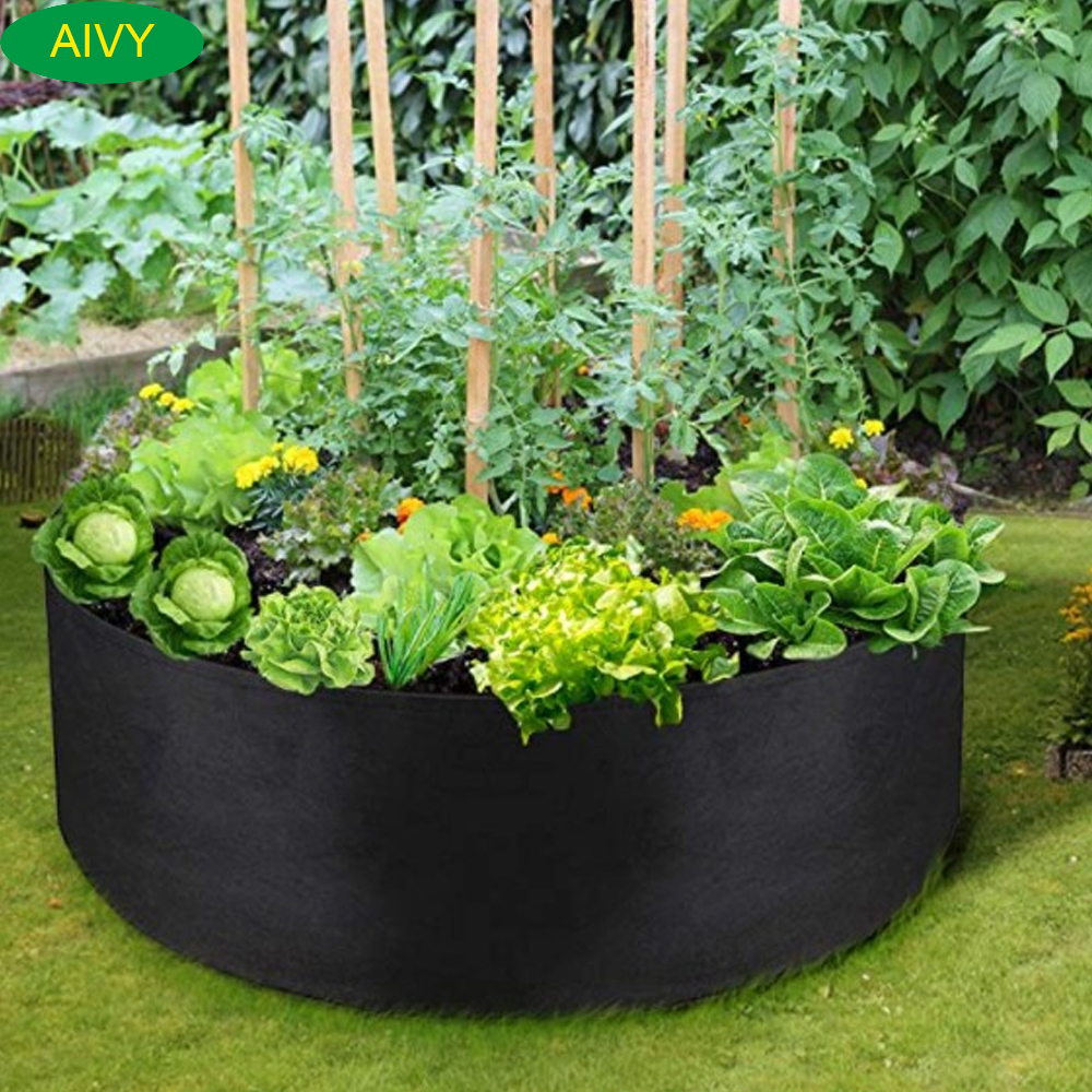 AIVY Growing Bags for Household Plants , Gardening Pots, Elevated Plant Beds, for Planting Flowers and Vegetables