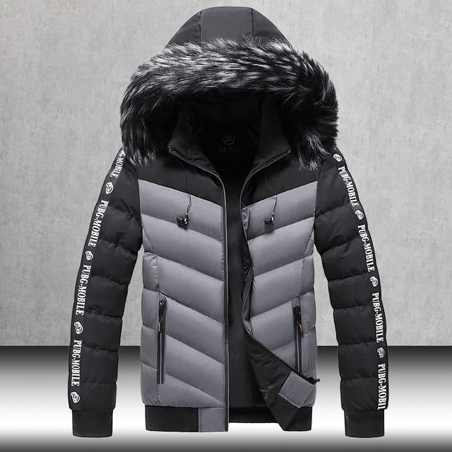 Winter Jacket Men 2021 Fur Collar Hooded Thick Warm Cotton Outwear Man Patchwork Parka and Coats Windbreaker Parkas Male M-5XL 1