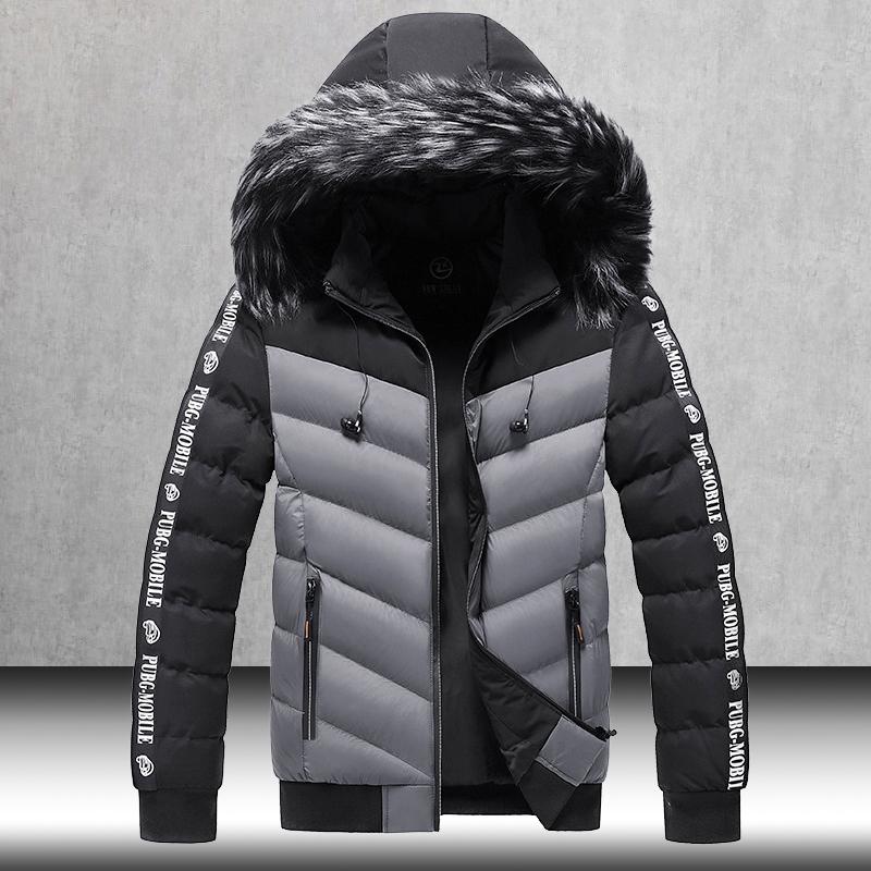 Winter Jacket Men 2020 Fur Collar Hooded Thick Warm Cotton Outwear Man Patchwork Parka and Coats Windbreaker Parkas Male M 5XL