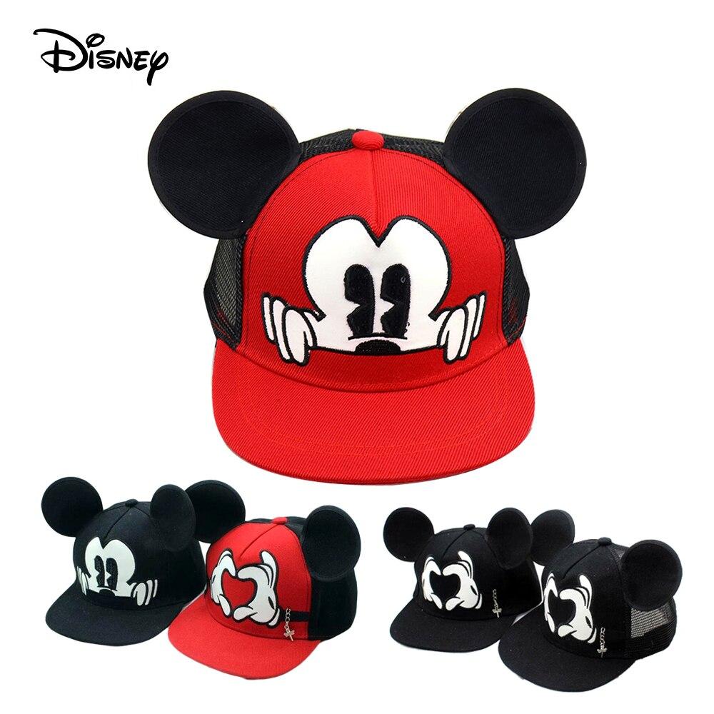 Cartoon Mickey Ear Baseball Caps Children kids Snapback Hip Hop Hat Boys Girls Summer Breathable Mesh Sun Gorras Adjustable