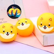 4pcs Decompression Ball Toys Children Fluorescent Sticky Ball Stress Reliever