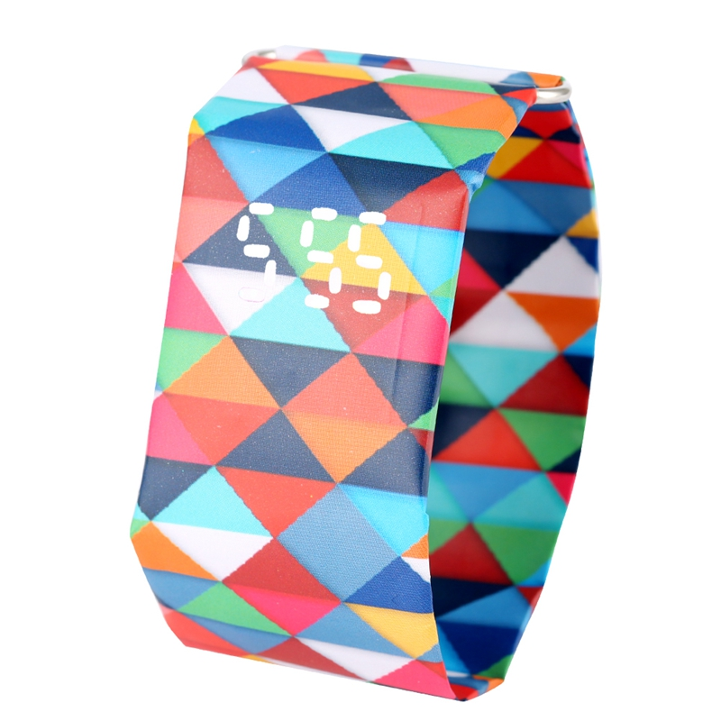 2020 Trendy DIGITAL LED Watch Paper Water/Tear Resistant Watch Perfect Gift 10 Variants 14