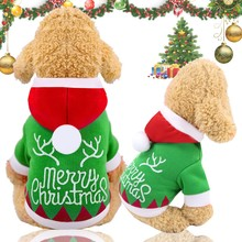 Get more info on the Pet dog clothes Christmas pet clothes moose antlers decorative printed dog clothes winter warm hooded jacket dog clothes XS-2XL