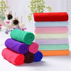 5pc 25*25cm Microfiber Cleaning Towel Absorbable Glass Kitchen Dish Towel Rag Wipes Table Window Car Cleaning Cloth Random Color