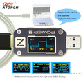 ATORCH POWER-Z USB tester Typ-c PD QC 3,0 2,0 Ladegerät Spannung Strom Welligkeit Dual Typ-C KM001 volt Meter Power Bank Detektor