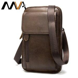 Image 1 - MVA Genuine Leather Mens Shoulder Bags For Men Crossbody Bags Male Messenger Bag Men Leather Handbag Phone Bags Mens Small 899