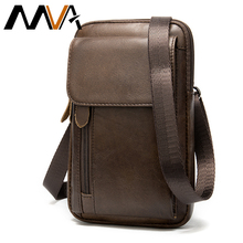 MVA bolsos de bandolera de piel auténtica para hombre, bolso cruzado, pequeño para teléfono, 899