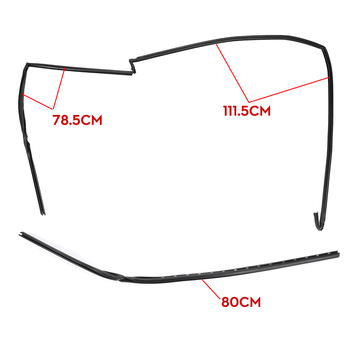 Car Wiper Windshield Panel Moulding Seal Strip Front Glass For BMW 5 E39 1997-2003