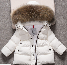 цена на LEAPPAREL Kids Winter Coat Cute Boys Girls Fur Hooded Hoodie Down Jacket Solid Warm New Arrival Parka Children Outwear