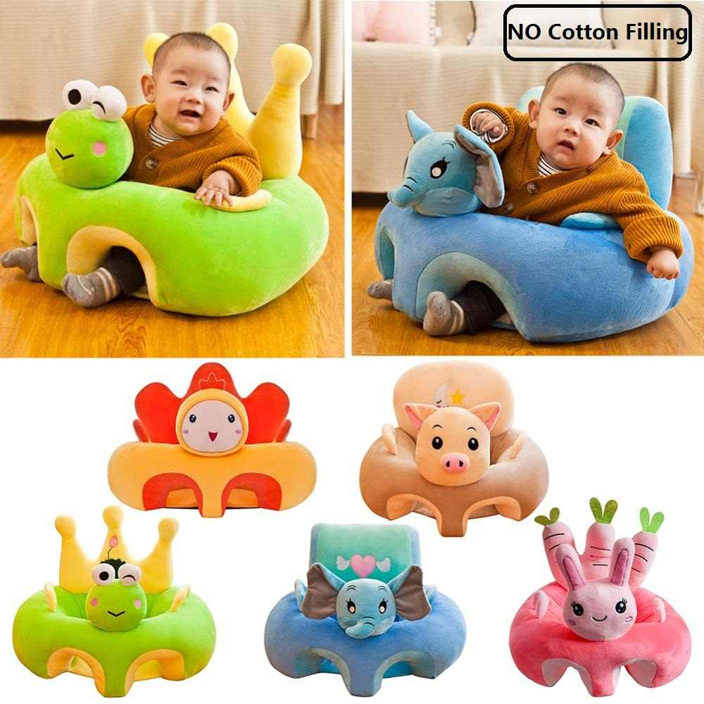 Baby Sofa Seat Cover Anti-fall Infant Plush Chair Learning to Sit Cradle Sofa Chair Infant Toddler Nest Puff No Cotton Filling