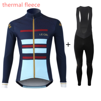 LE COL thermal fleece winter mens long sleeve cycling jersey sets roupas ciclismo maillot ciclyng clothing pro team bike wear