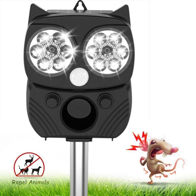 Garden Solar Powered Ultras onic Outdoor Animal Repeller Motion Sensor Flash Light Dog bats Raccoon Rabbit Animal Dispeller