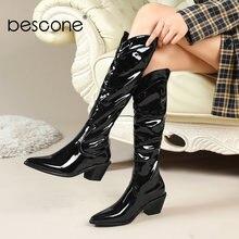 Bescone/новые женские сапоги элегантные удобные высококачественные