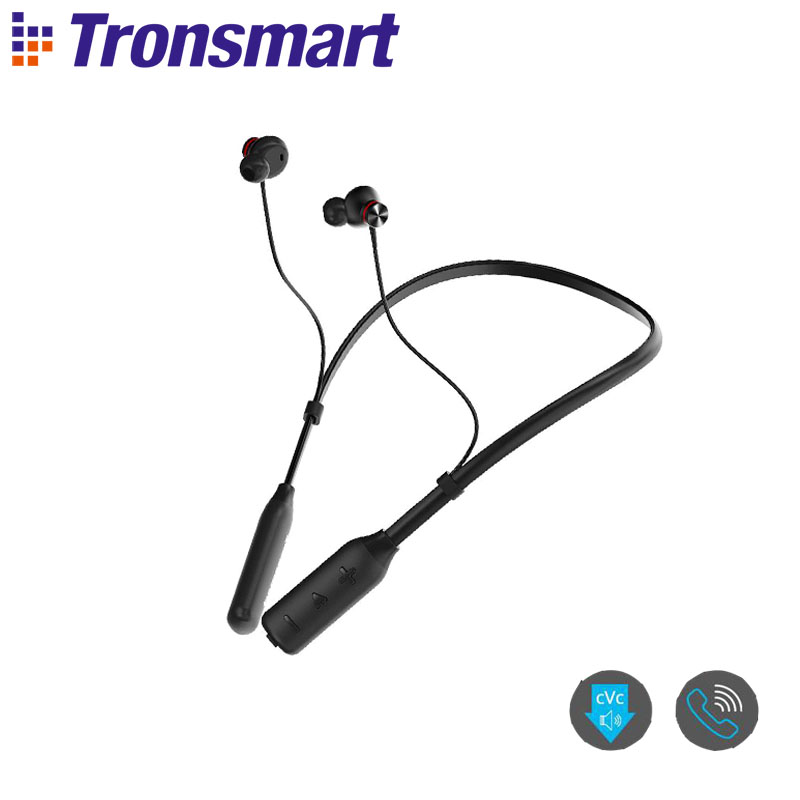 Tronsmart Encore <font><b>S2</b></font> Plus Qualcomm Chip <font><b>Bluetooth</b></font> 5.0 Earphones Wireless Earphoes with Voice Control,24H Playtime, Deep Bass image