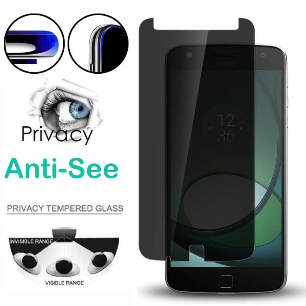 Privacy Tempered Glass for Motorola G3 G4 G5 G6 Z2 P30 Play Screen Protector For Moto One Power E5 G5 G5S G6 PLUS Anti-Spy Film