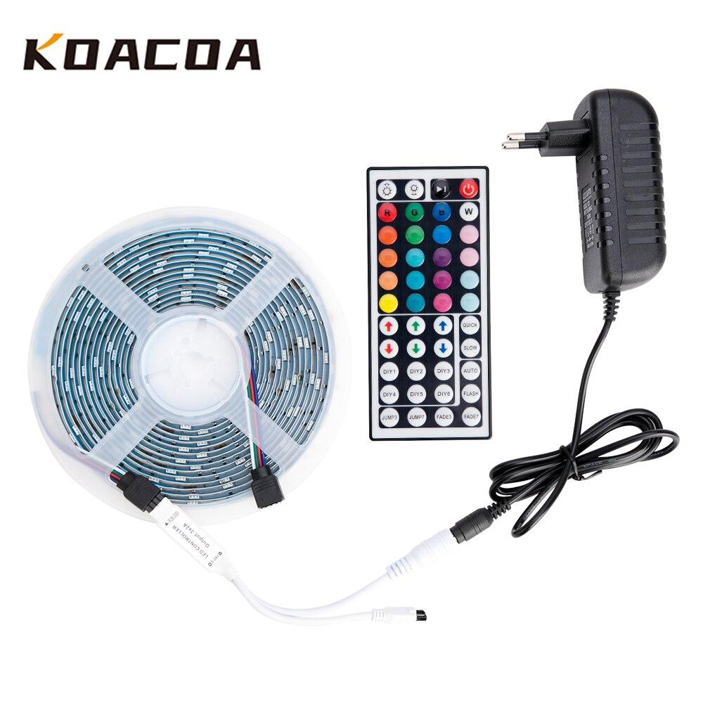 LED Strip Light RGB LED Strip 12V Ribbon SMD 5050 2835 Flexible Ribbon Fita 5M 10M 15M Tape Diode Remote Backlight LED TV Party(China)