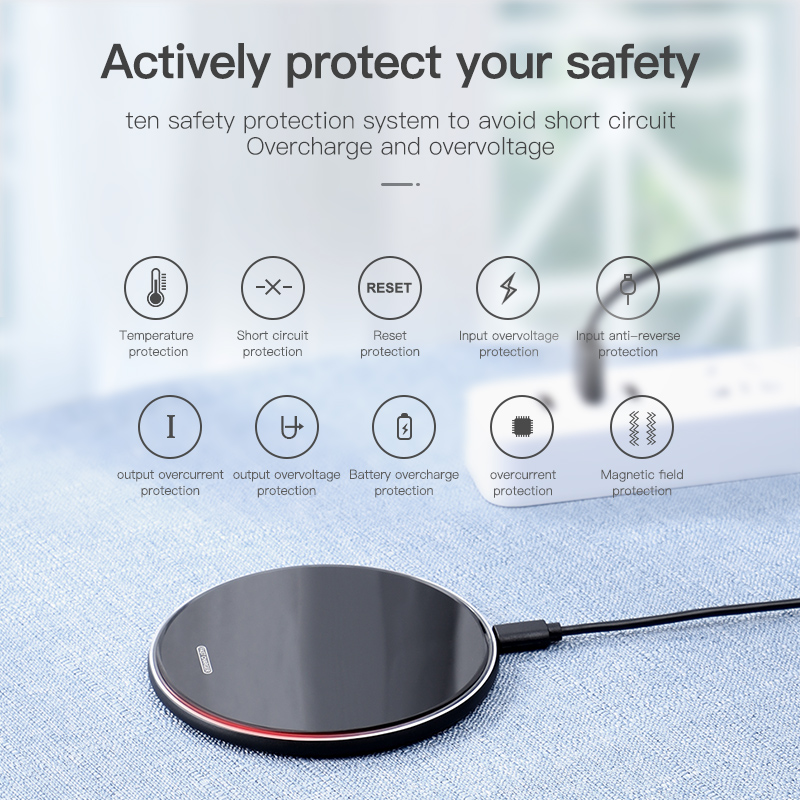 Image 4 - KUULAA Wireless Charger 10W Qi for Samsung S9 S10+ Note 9 8 Mirror Wireless Charging Pad 7.5W for iPhone X/XS Max XR 8 Plu-in Wireless Chargers from Cellphones & Telecommunications