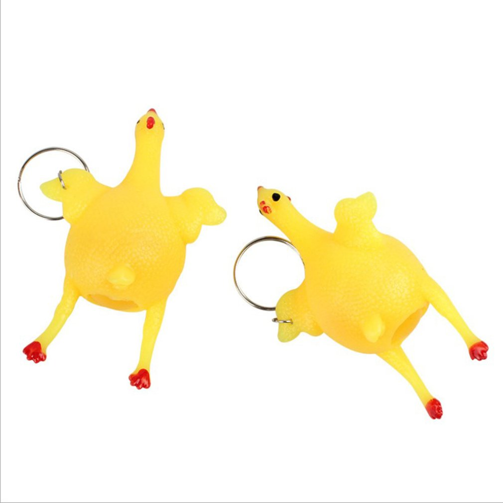 1PC Stress Relief Ball Novetly Squeeze Chick Hand Wrist Exercise Antistress Toy Funny Gadgets Toys For Kids Cute Squishy Animals
