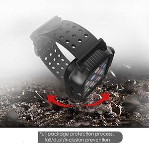 Image 4 - IP68 עמיד למים מקרה עם סיליקון רצועת עבור אפל שעון SE 6 5 4 40mm 44mm ספורט צמיד עבור iWatch 3 2 1 38mm 42mm להקה