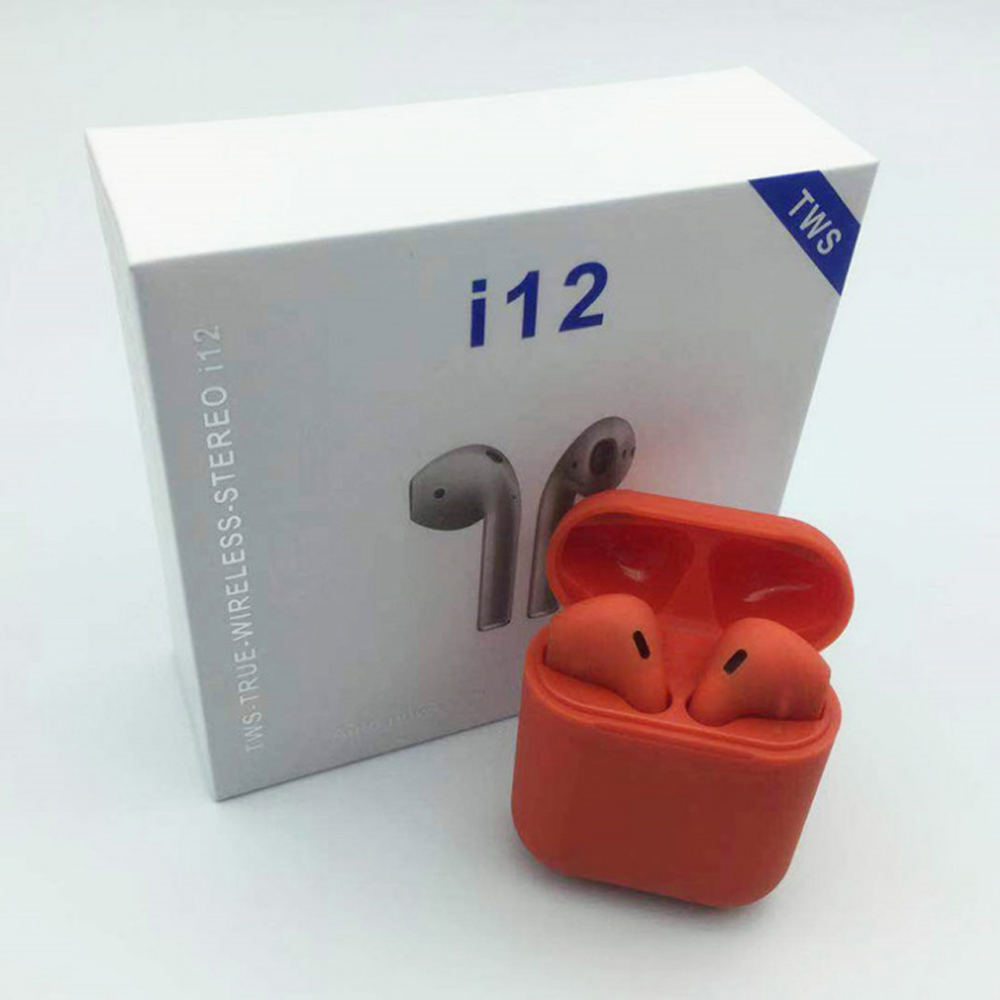 <font><b>wireless</b></font> stereo macaron <font><b>i12</b></font> <font><b>tws</b></font> <font><b>bluetooth</b></font> <font><b>earphone</b></font> <font><b>smart</b></font> touch key <font><b>mini</b></font> in-ear earbuds image