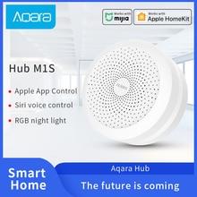 Aqara hub m1s mi gateway zigbee 3.0 conexão mi jia casa inteligente trabalho com mi jia temperatura hu mi dity sensor de porta do windows sensor