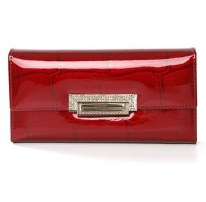 Image 5 - genuine leather wallet women long ladies leather wallets  2020 new woman purse diamond womens leather wallets