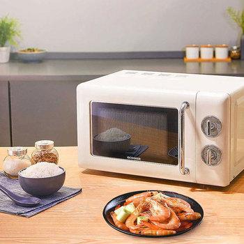 2021 nowy QCOOKER kuchenka mikrofalowa piec do pizzy piekarniki wypieki kuchenne Retro wbudowany gramofon urządzenia elektryczne Air Con Grill 20L tanie i dobre opinie TOOKFUN CN (pochodzenie) 600-900 w 220V 50Hz Grillowanie Czujnik gotować Speedcook z żarówki halogenowe kwarcowe DO STERYLIZACJI