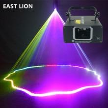Small 1 Lens RGB Laser Light Projector Stage Lighting Effect Disco Ball Mirror DMX512 Gobo For Dj Party Nightclub Dance Floor