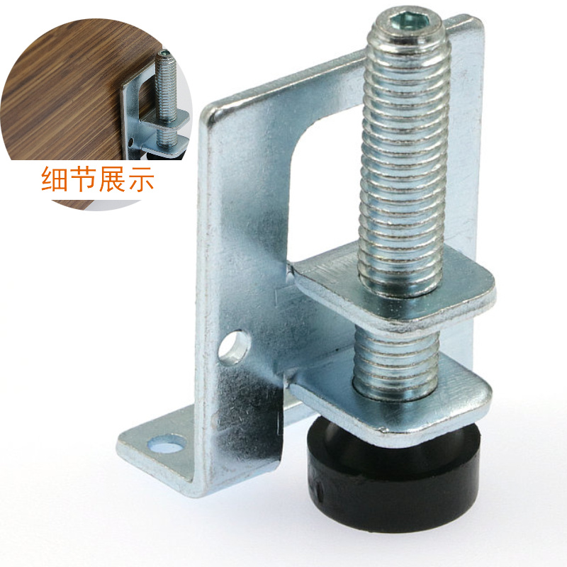 4pcs 0-5cm Screw Furniture Adjustable Cabinet Legs Steel Table Sofa Metal Leveling Feet Corner Bracket Floor Protection Hardware