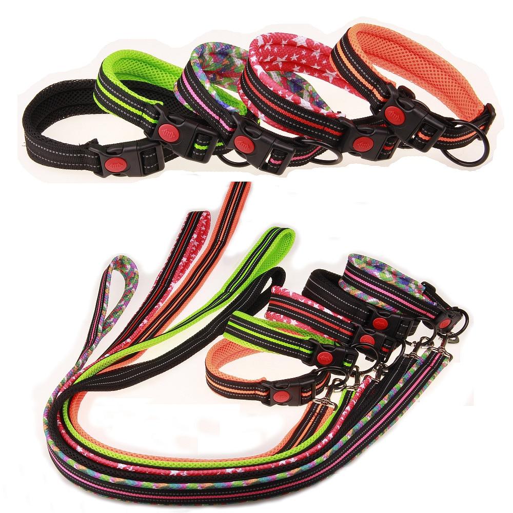 Mesh Pet Collar Dog Pulling Rope Traction Belt Sandwich Pet Dog Collar Safe Pet Supplies