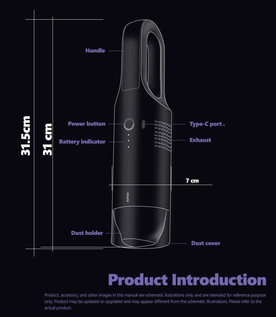 Xiaomi 70mai Midrive PV01 Mini Handheld Wireless Car Vacuum Cleaner 14
